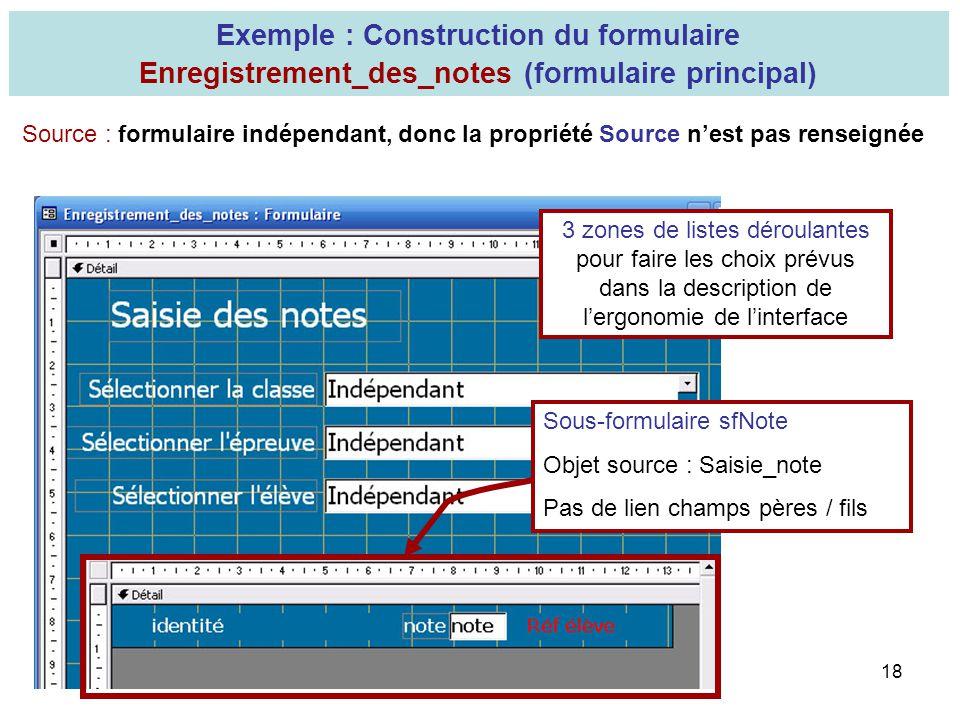 Exemple : Construction du formulaire