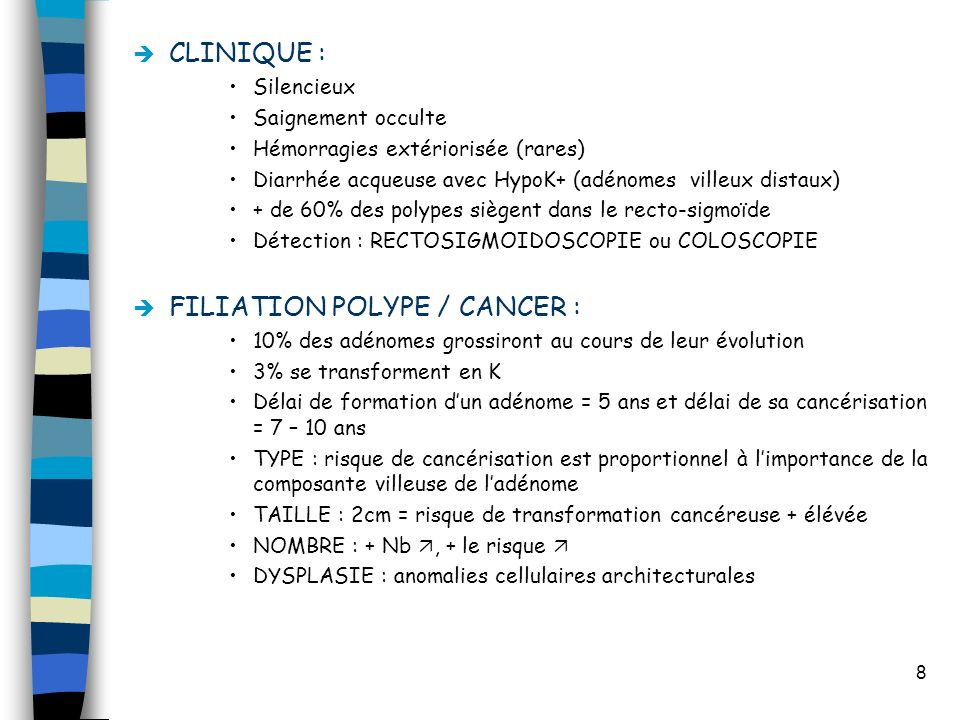 FILIATION POLYPE / CANCER :