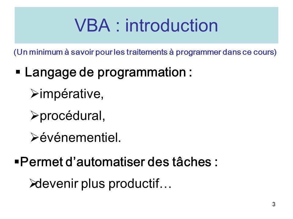 (Un minimum à savoir pour les traitements à programmer dans ce cours)