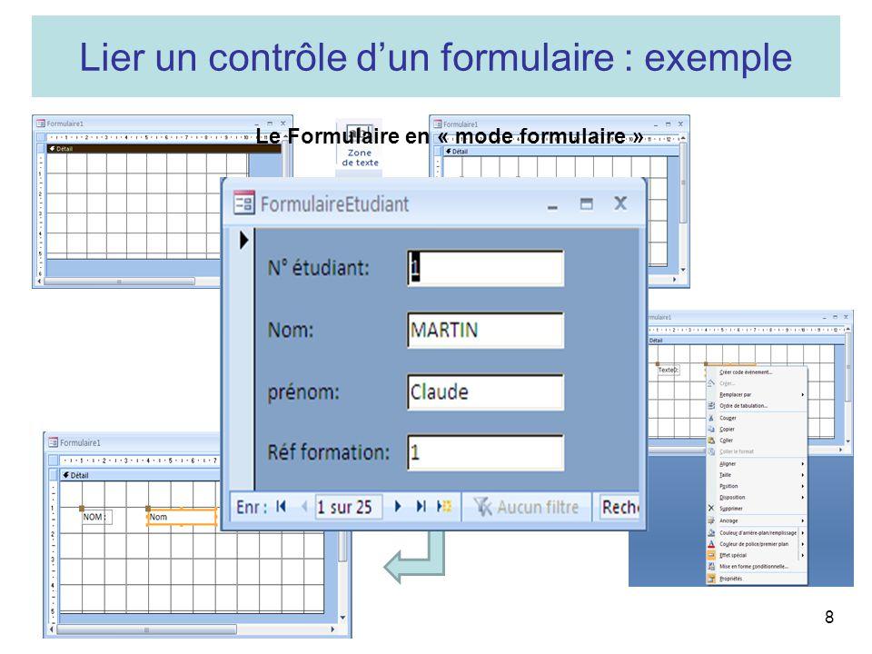 Le Formulaire en « mode formulaire »