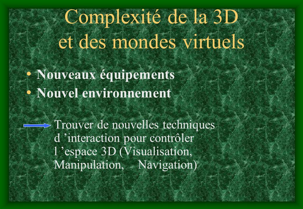 Complexité de la 3D et des mondes virtuels