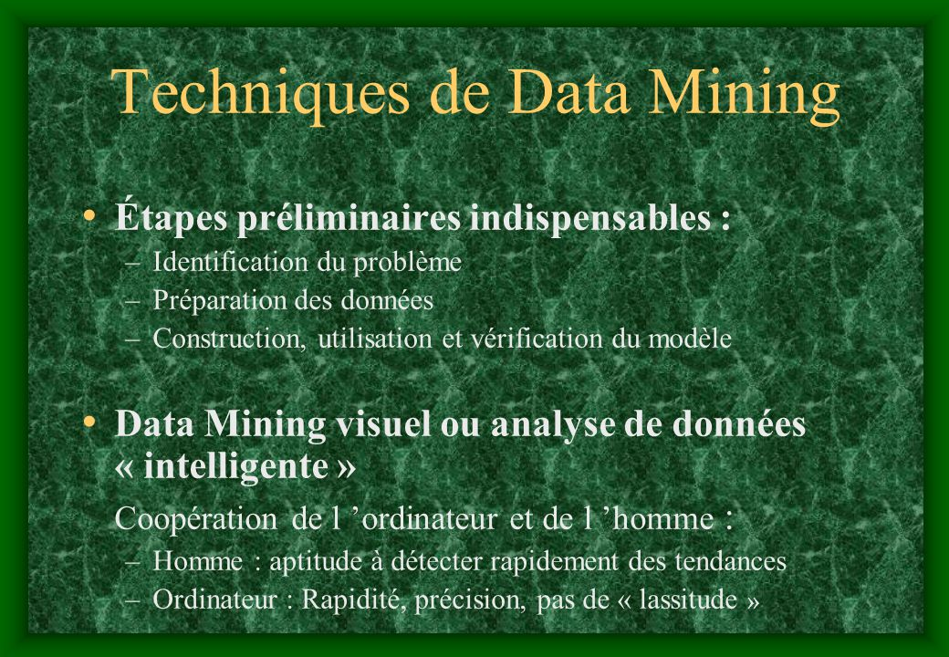 Techniques de Data Mining
