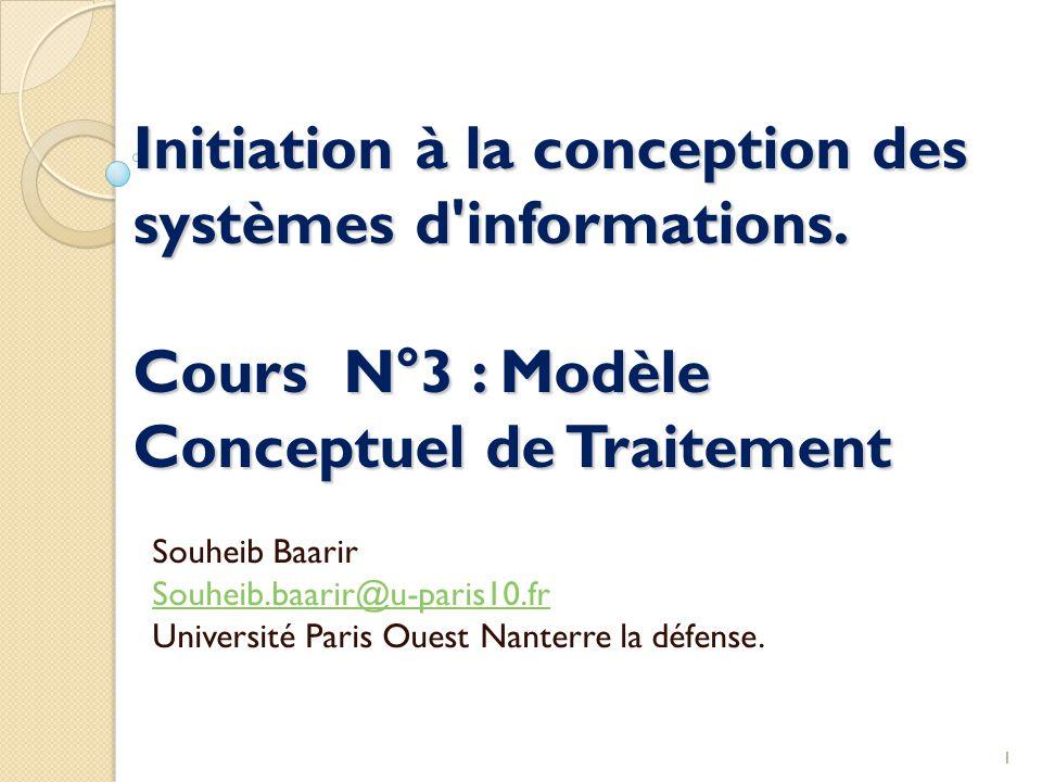Initiation à la conception des systèmes d informations