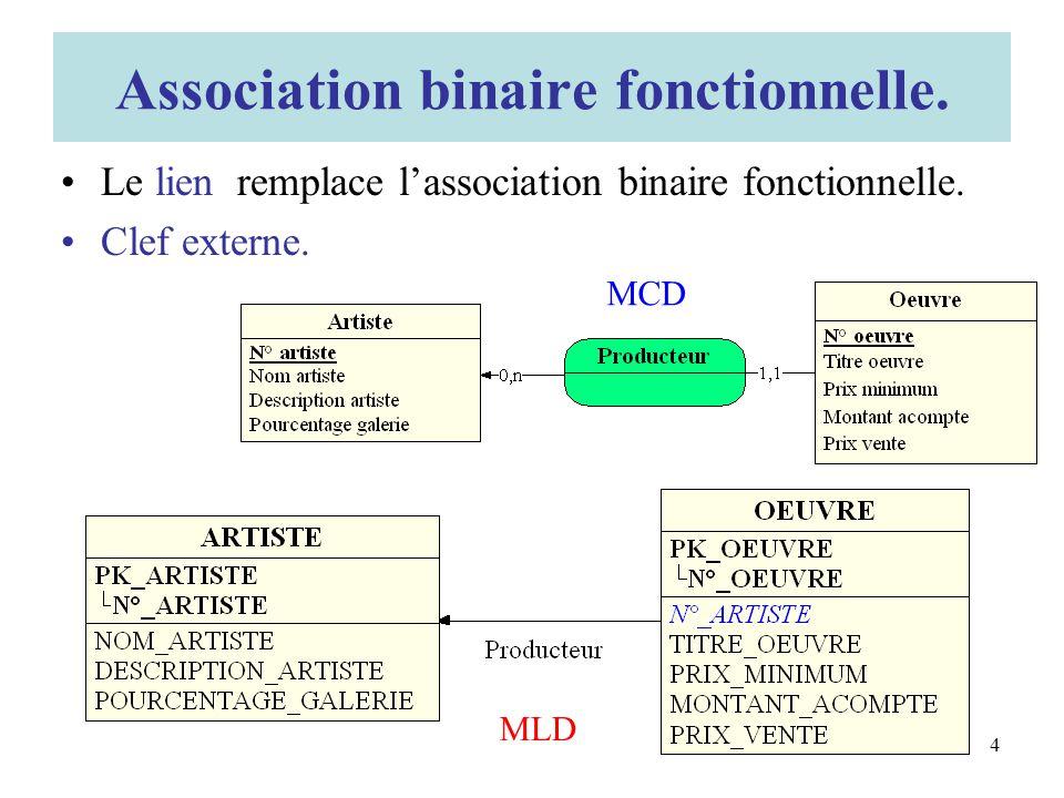 Association binaire fonctionnelle.