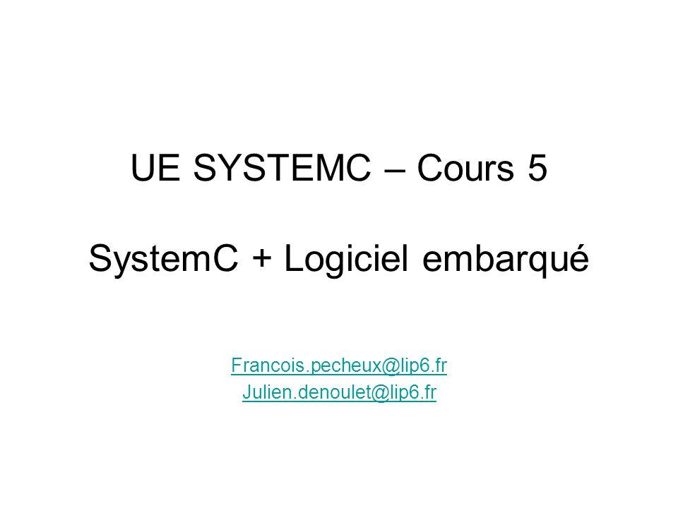 UE SYSTEMC – Cours 5 SystemC + Logiciel embarqué