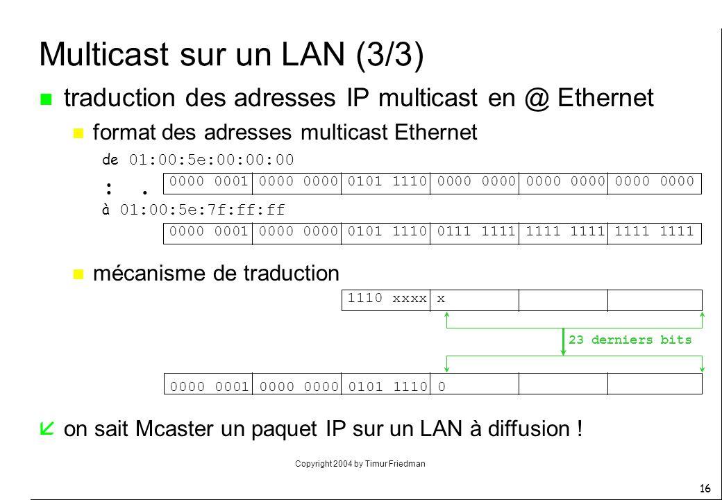 Multicast sur un LAN (3/3)
