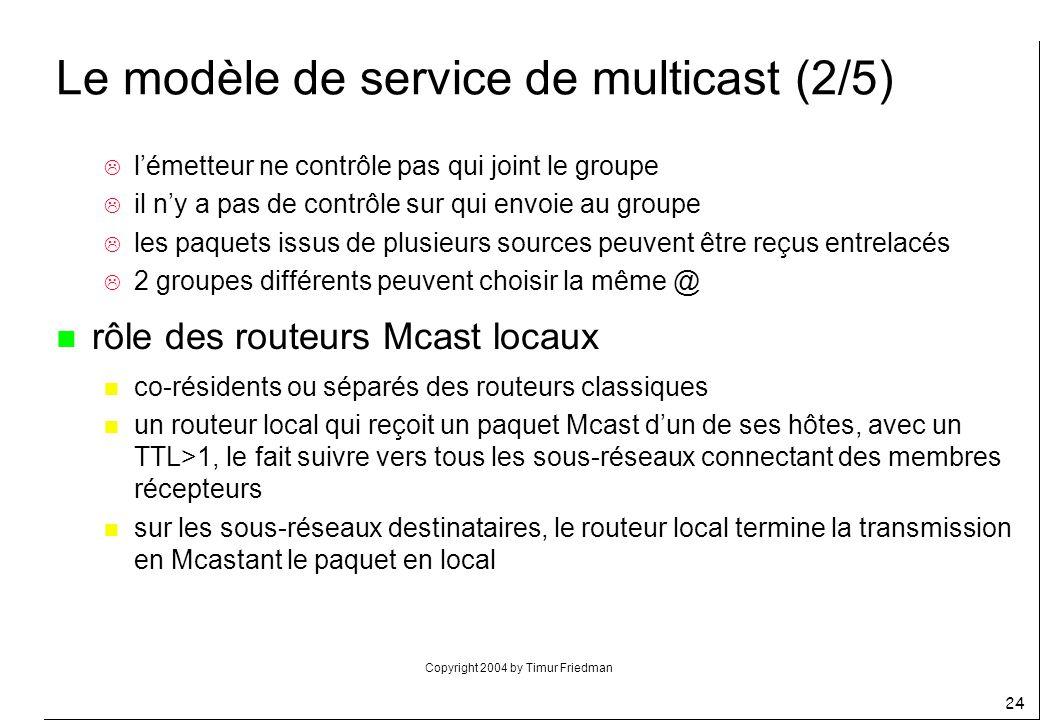 Le modèle de service de multicast (2/5)