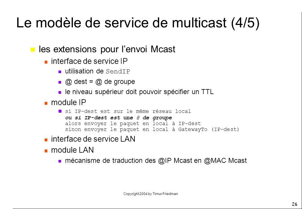 Le modèle de service de multicast (4/5)