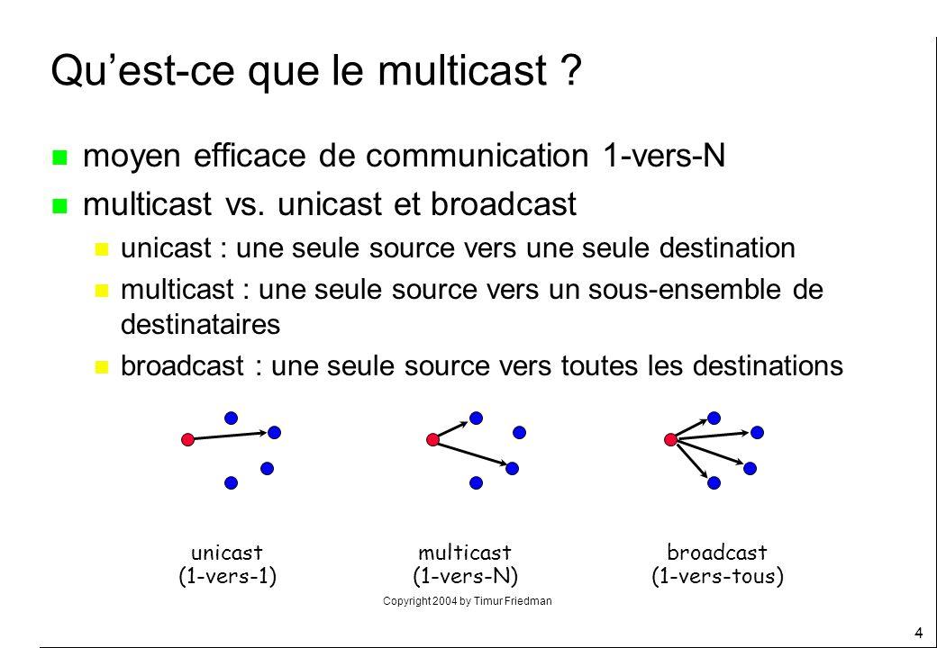 Qu'est-ce que le multicast