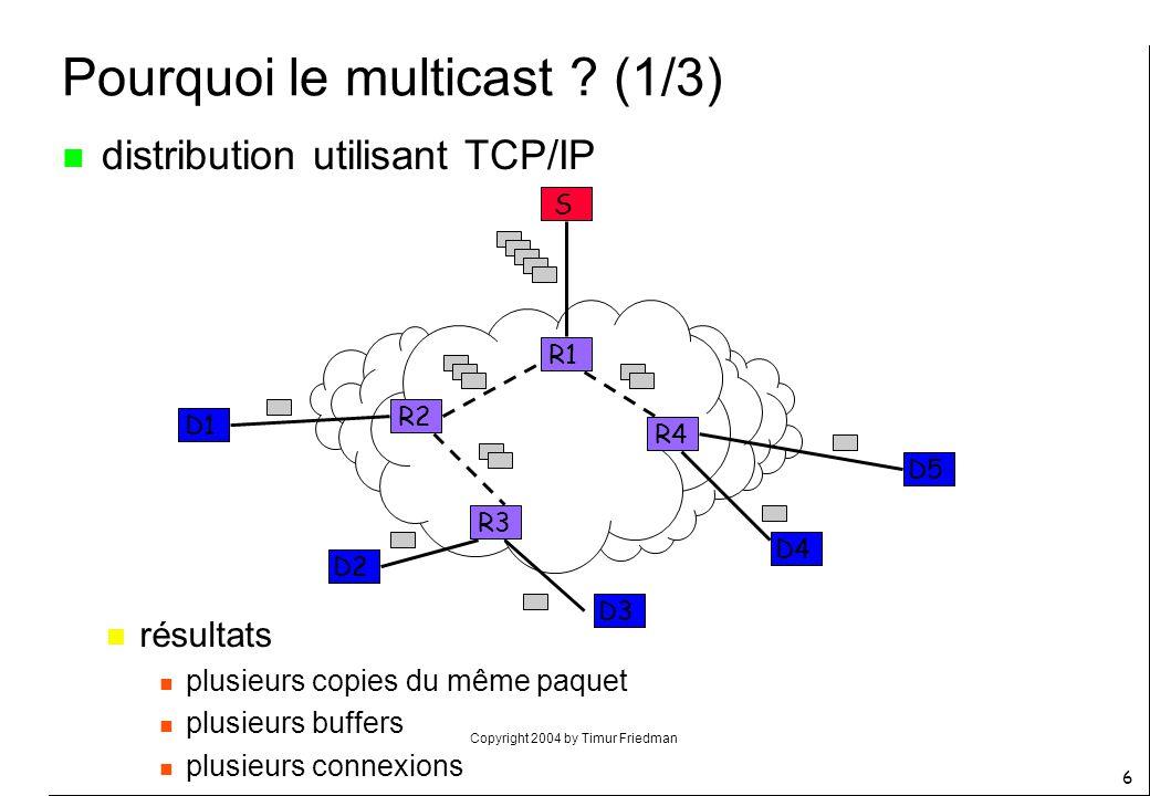 Pourquoi le multicast (1/3)
