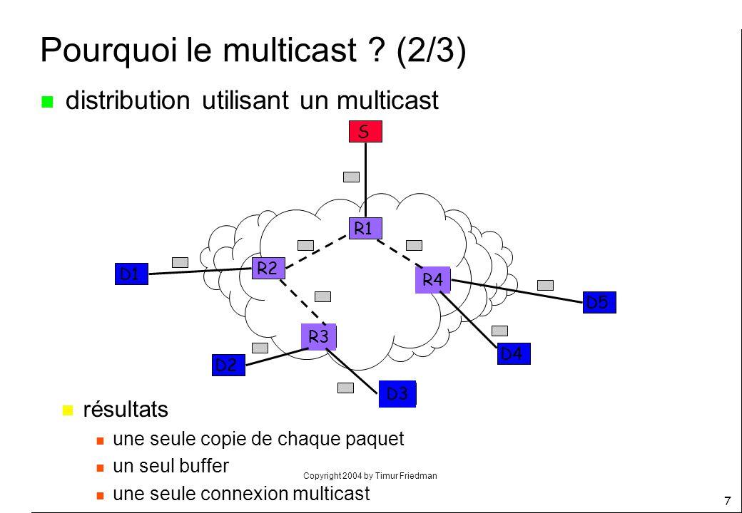 Pourquoi le multicast (2/3)