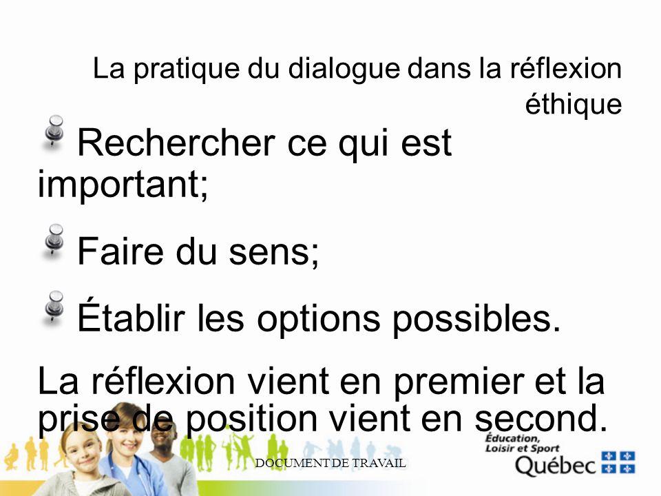 La pratique du dialogue dans la réflexion éthique