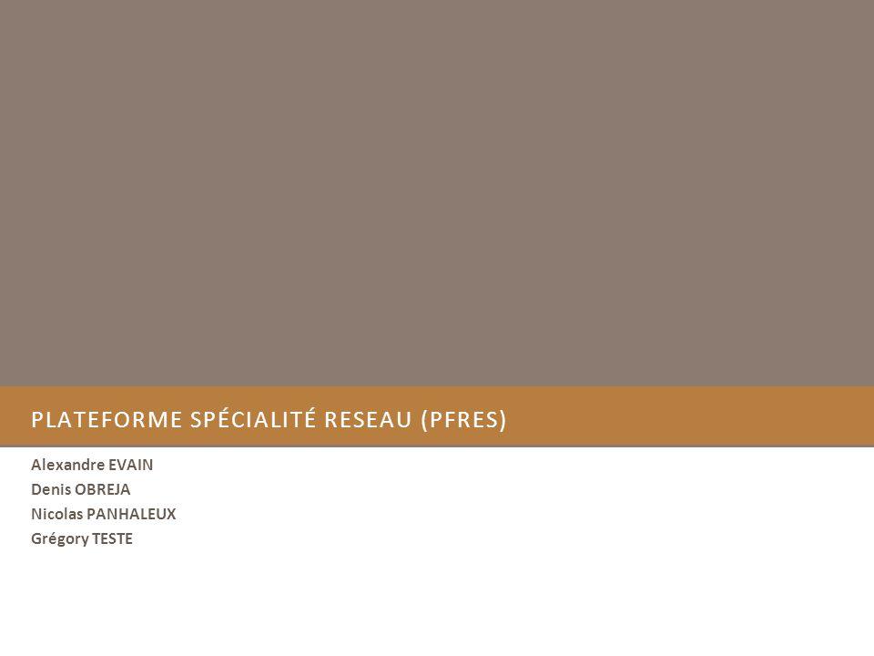 PlateForme spécialité RESeau (PFRES)