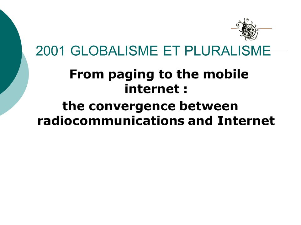 2001 GLOBALISME ET PLURALISME