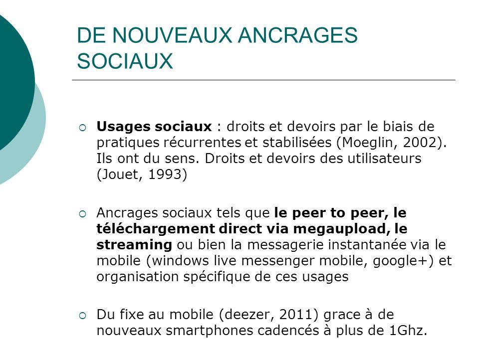 DE NOUVEAUX ANCRAGES SOCIAUX
