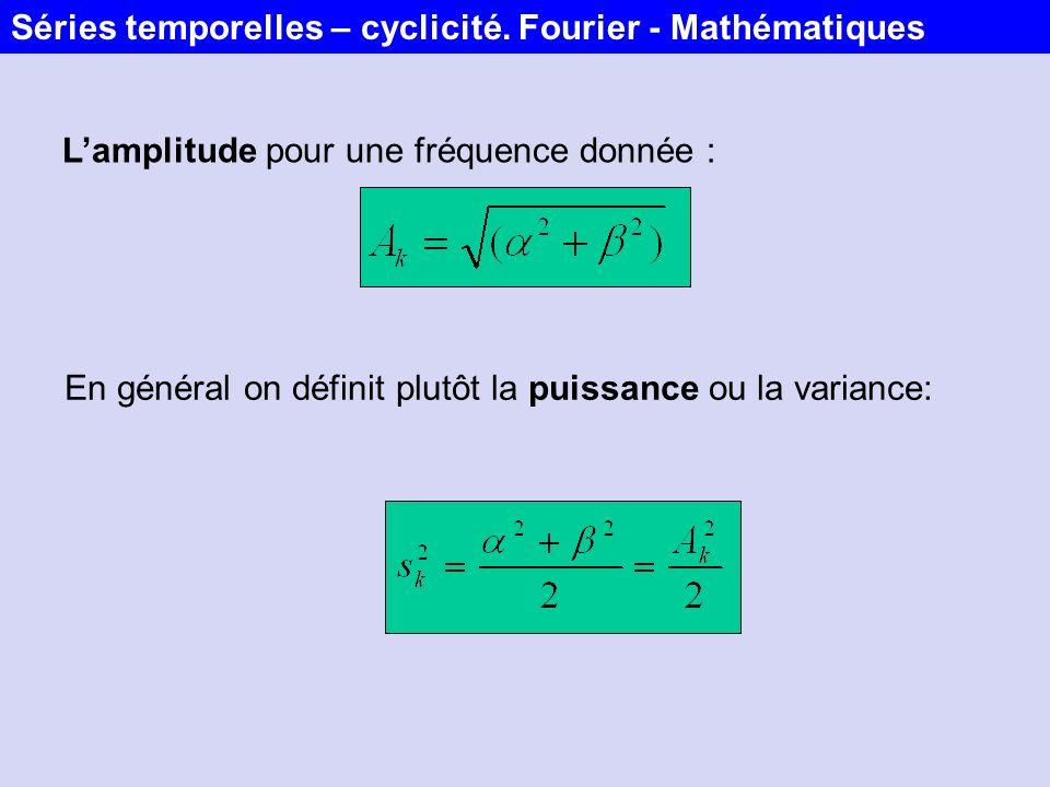 Séries temporelles – cyclicité. Fourier - Mathématiques