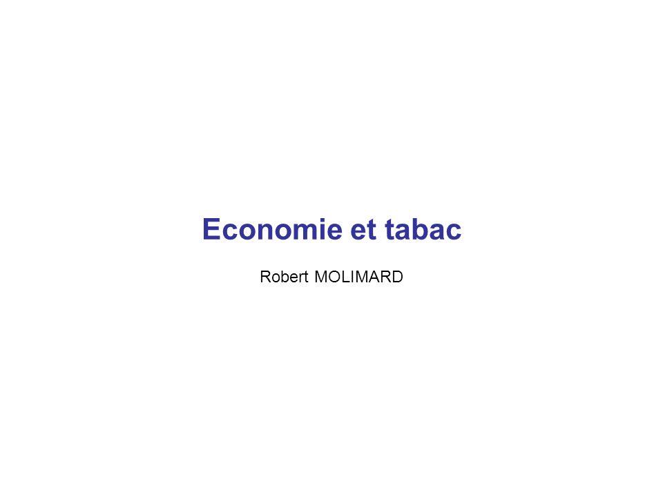 Economie et tabac Robert MOLIMARD