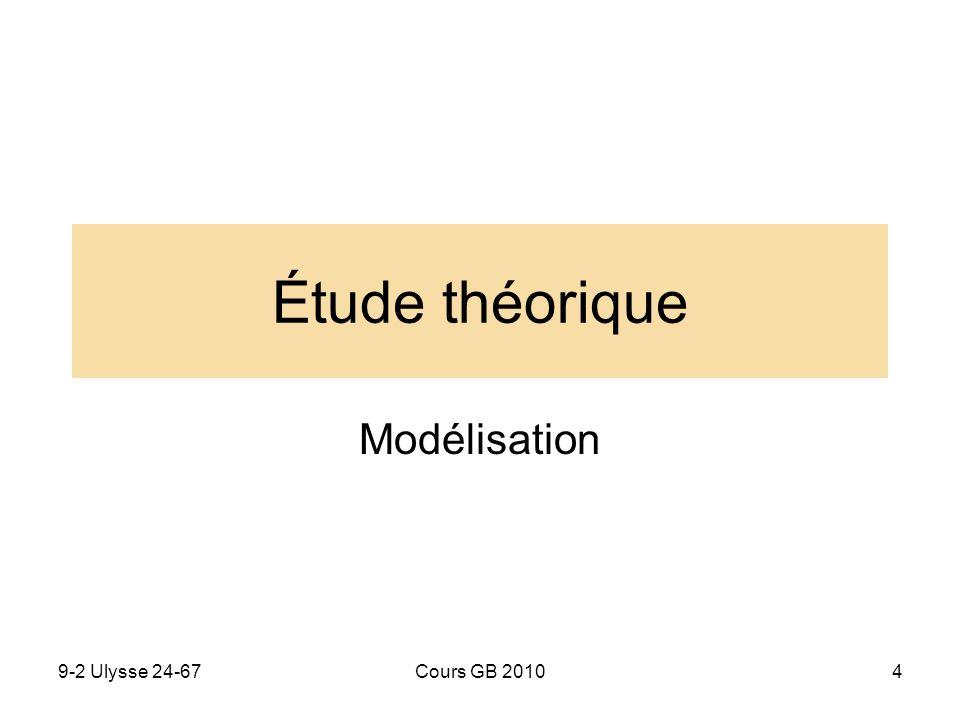 Étude théorique Modélisation 9-2 Ulysse 24-67 Cours GB 2010