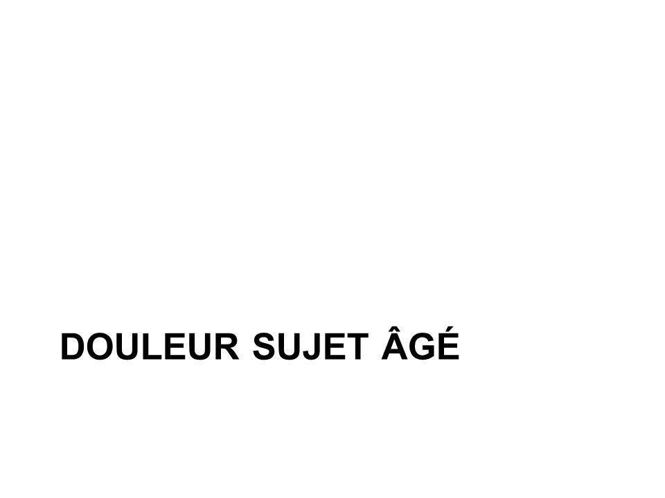 DOULEUR SUJET ÂGÉ