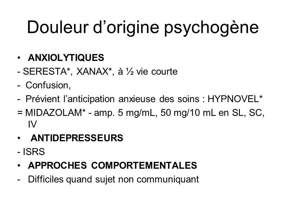 Douleur d'origine psychogène