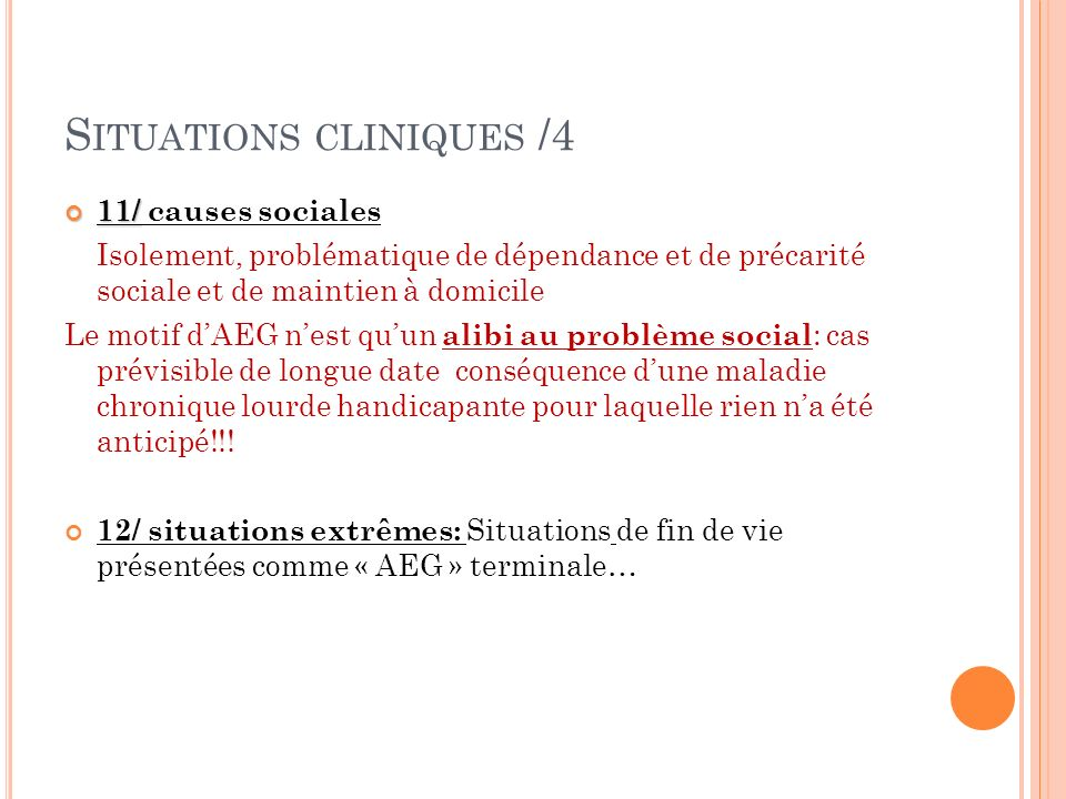 Situations cliniques /4