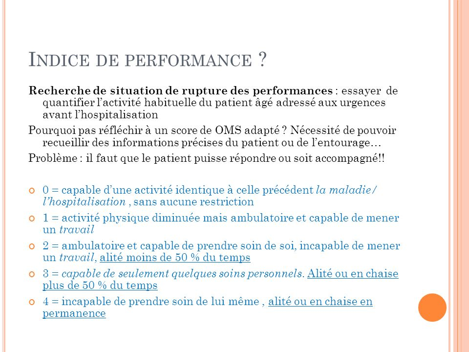 Indice de performance