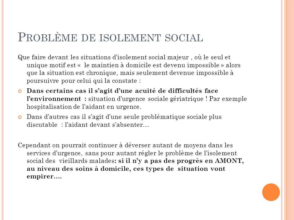 Problème de isolement social