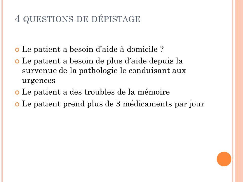 4 questions de dépistage