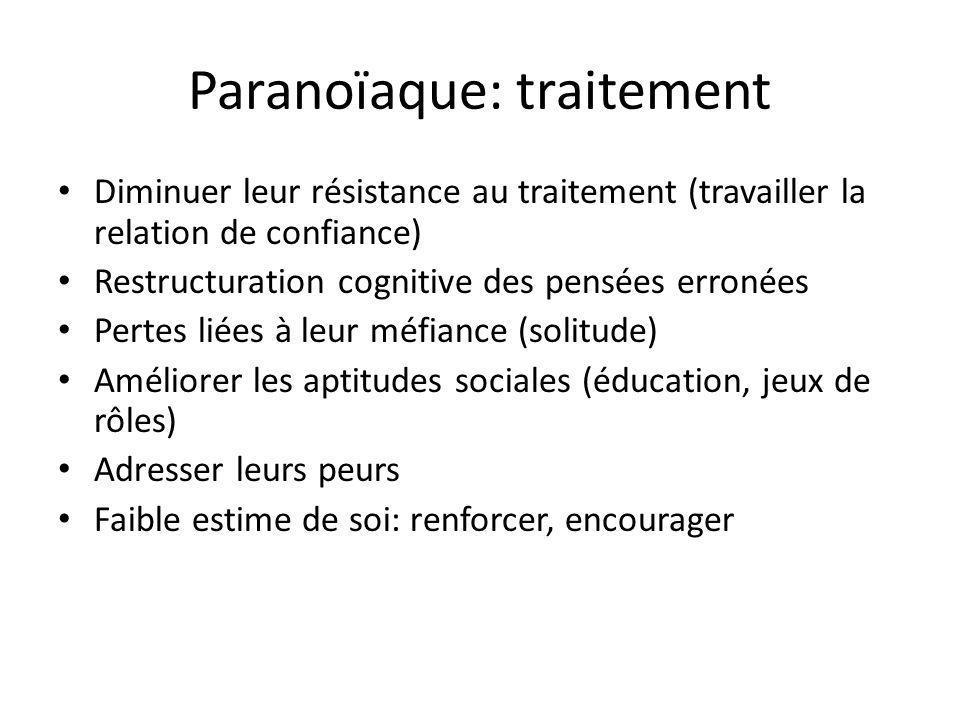 Paranoïaque: traitement