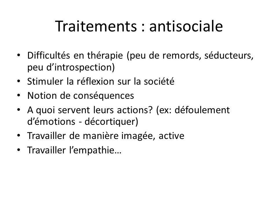 Traitements : antisociale