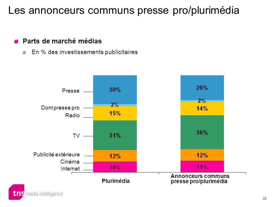 Les annonceurs communs presse pro/plurimédia