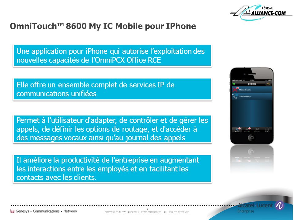 OmniTouch™ 8600 My IC Mobile pour IPhone