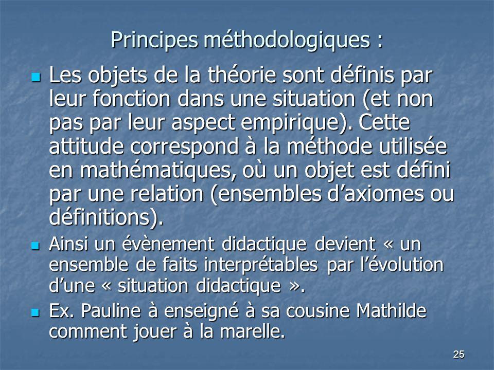Principes méthodologiques :