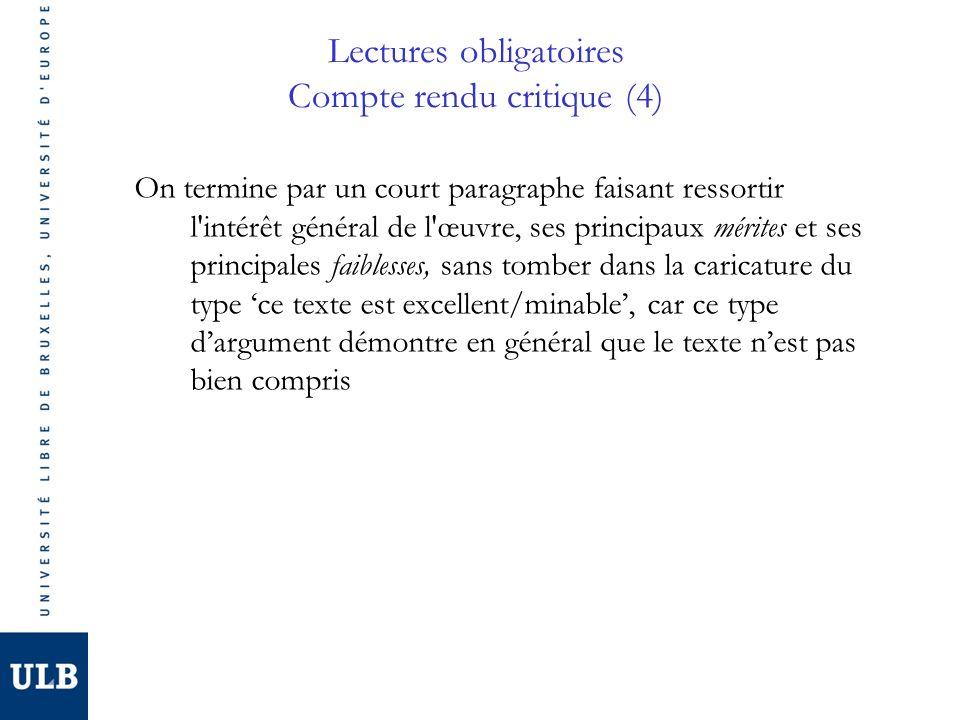 Lectures obligatoires Compte rendu critique (4)