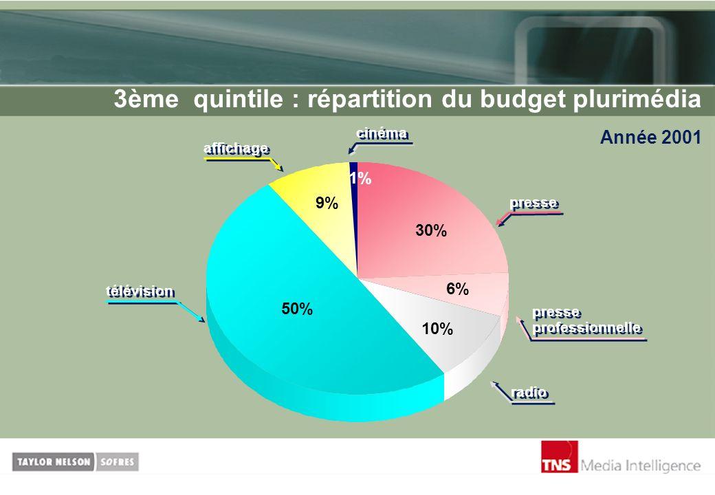 3ème quintile : répartition du budget plurimédia
