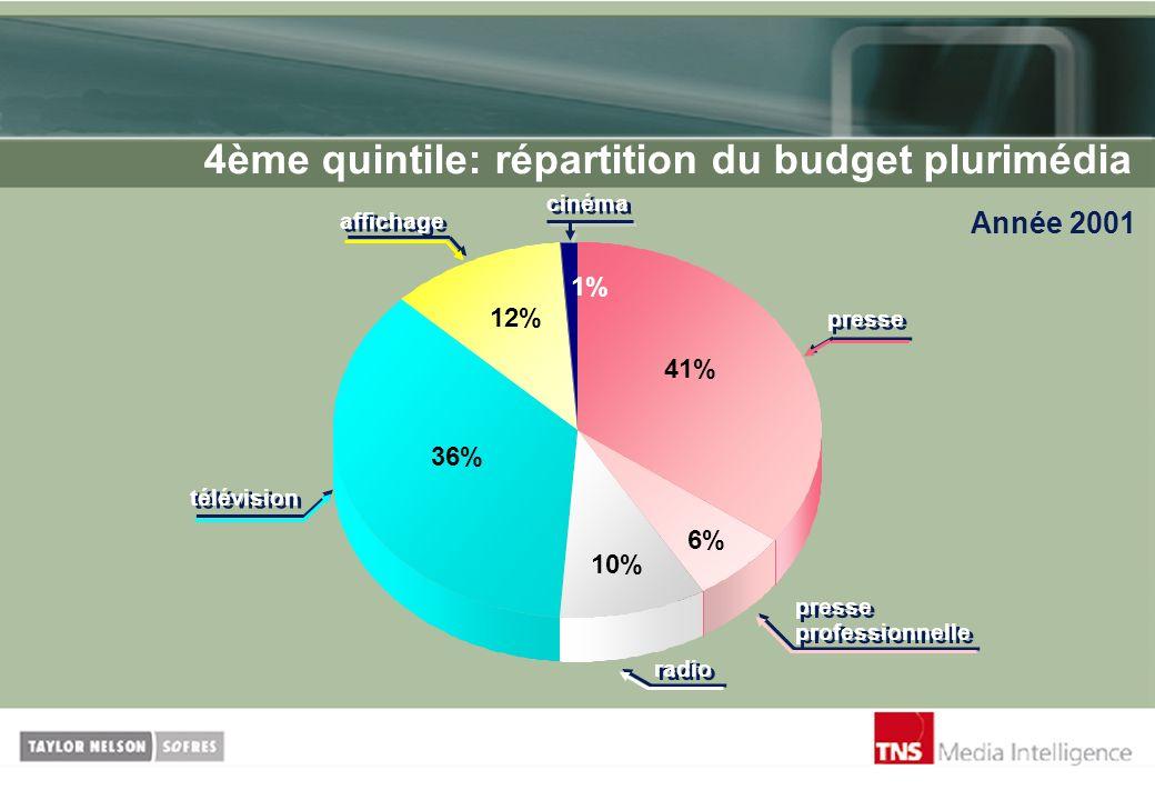 4ème quintile: répartition du budget plurimédia