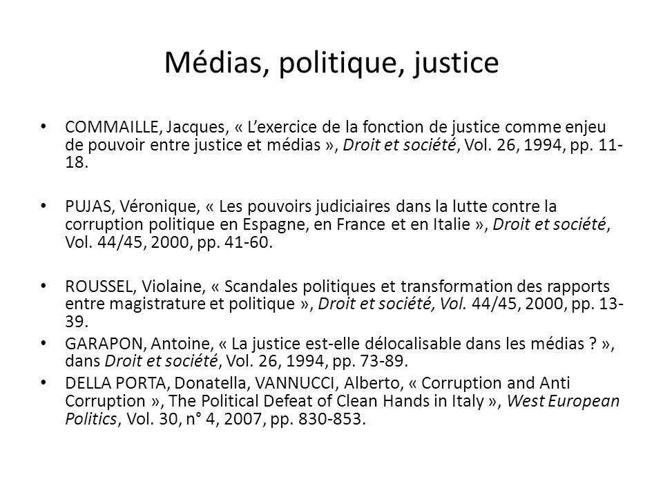 Médias, politique, justice