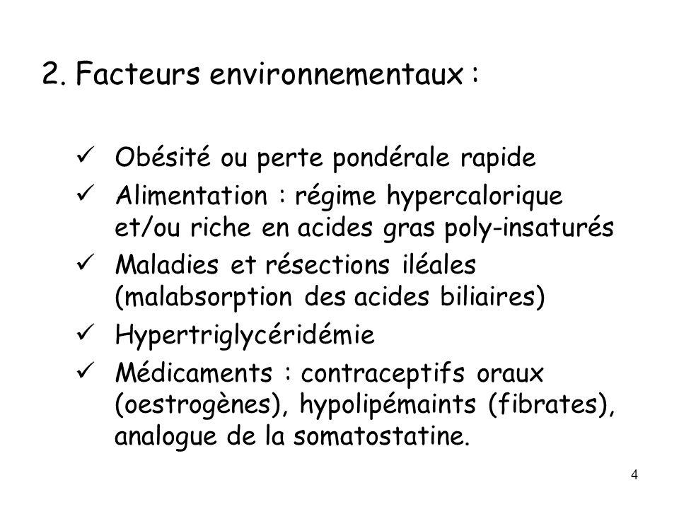2. Facteurs environnementaux :
