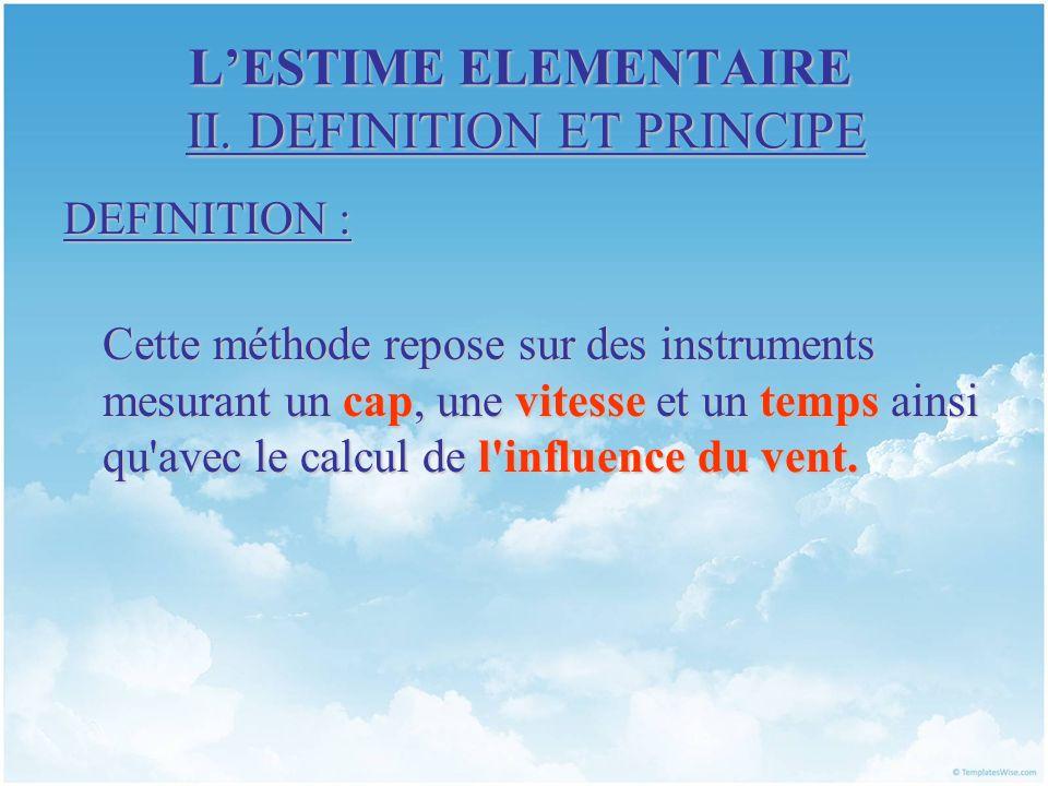 L'ESTIME ELEMENTAIRE II. DEFINITION ET PRINCIPE