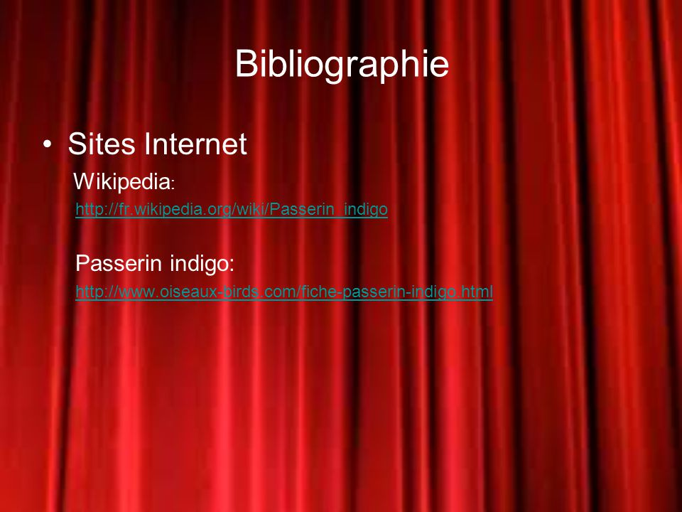 Bibliographie Sites Internet Wikipedia:
