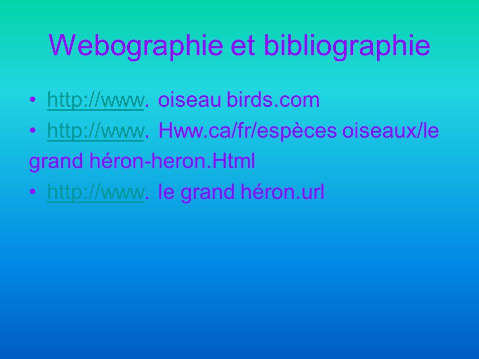 Webographie et bibliographie