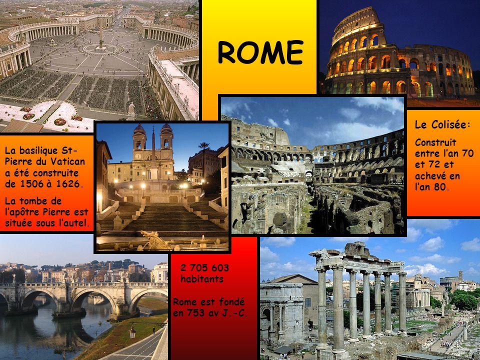 ROME Le Colisée: Construit entre l'an 70 et 72 et achevé en l'an 80.