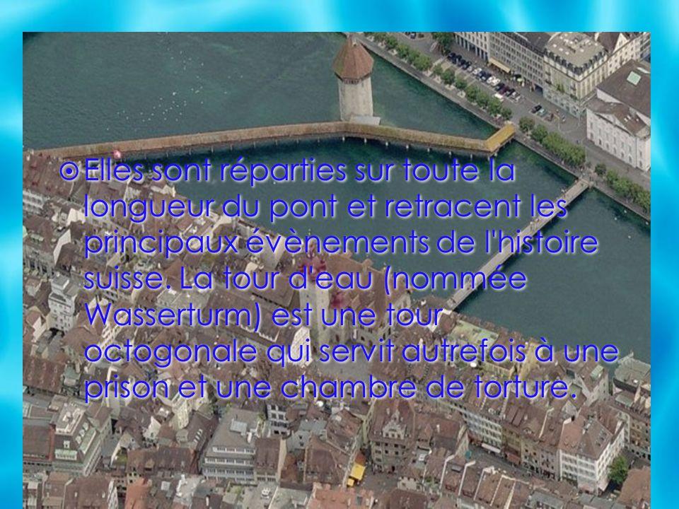Elles sont réparties sur toute la longueur du pont et retracent les principaux évènements de l histoire suisse.