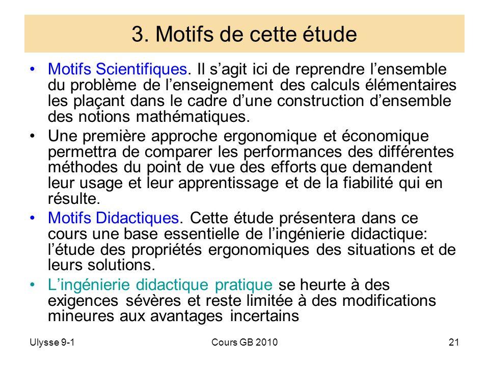 3. Motifs de cette étude