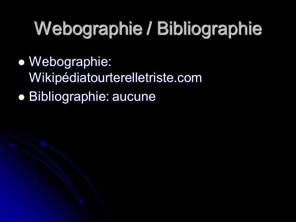 Webographie / Bibliographie