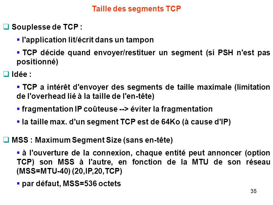 Taille des segments TCP