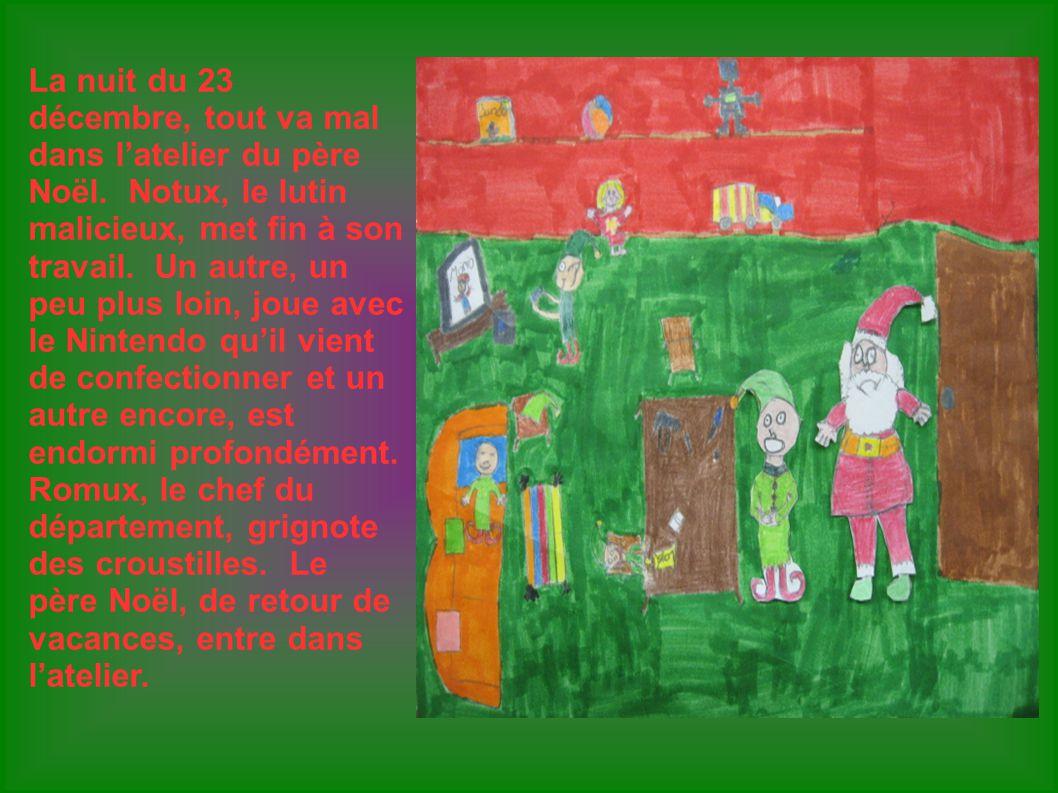 La nuit du 23 décembre, tout va mal dans l'atelier du père Noël