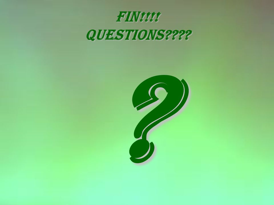 Fin!!!! questions
