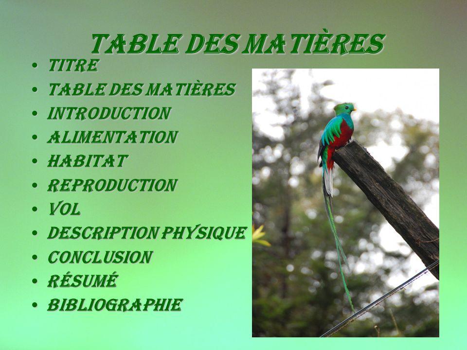 Table des matières titre Table des matières introduction Alimentation