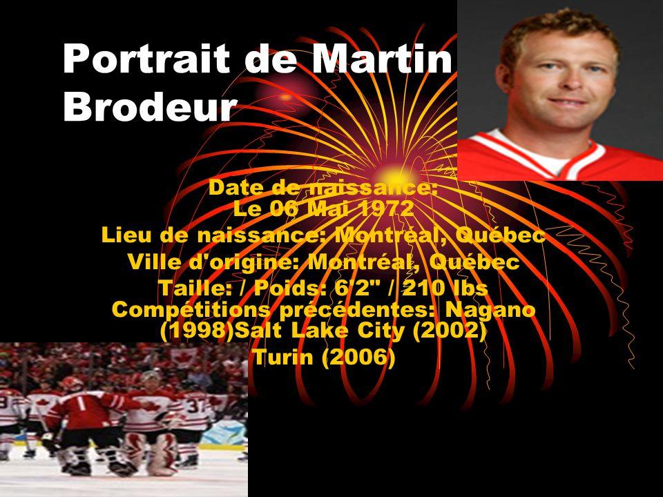 Portrait de Martin Brodeur